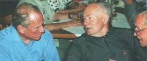 Die Generale G. Rall und F. Obleser, in Altenstein beim Diskutieren mit Kurt Schade