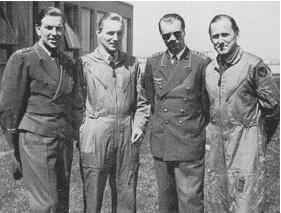 Barkhorn, Hartmann, Steinhoff u. Rall, bei der Bundeswehr- Lufwaffe 1958 ( zusammen 1104. Luftsiege)
