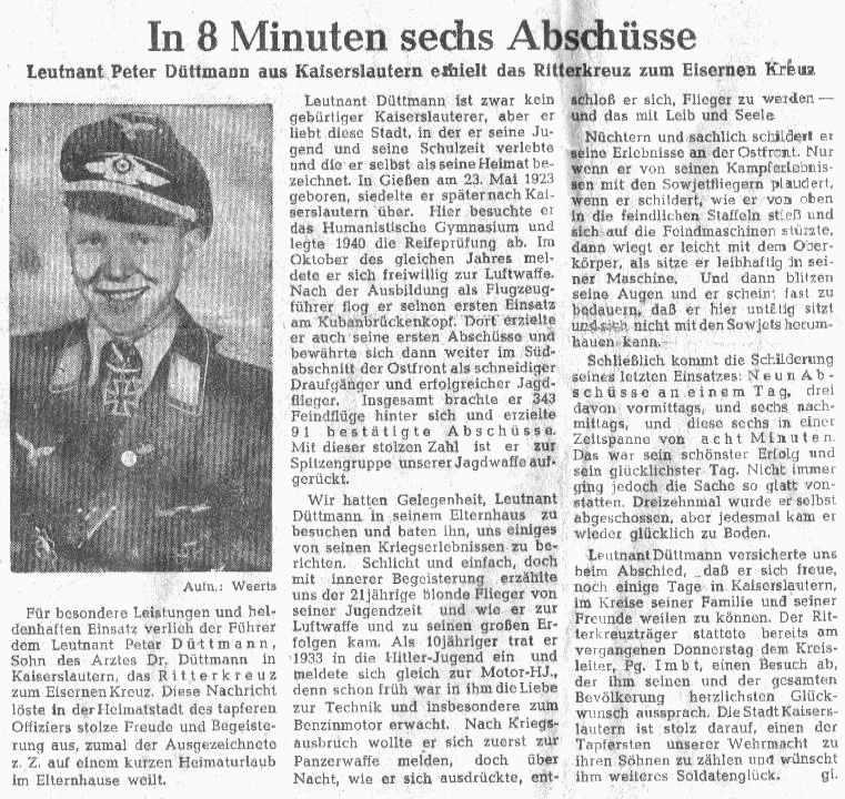 Orginal Zeitungsartikel aus der NZ Westmark vom 19.6.1944
