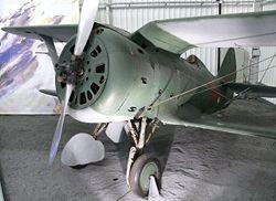 Erhaltene Polikarpow I-153 im Musée de l'Air et de l'Espace