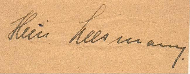 Unterschrift Leesmann