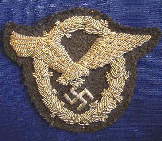 Stoffabzeichen für Offiziere und Portepeeträger