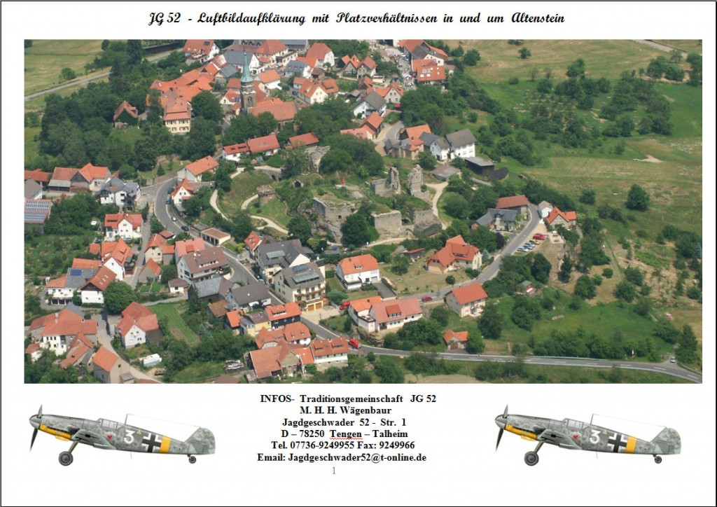 JG 52  -  Luftbildaufklärung  mit  Platzverhältnissen  in  und  um  Altenstein