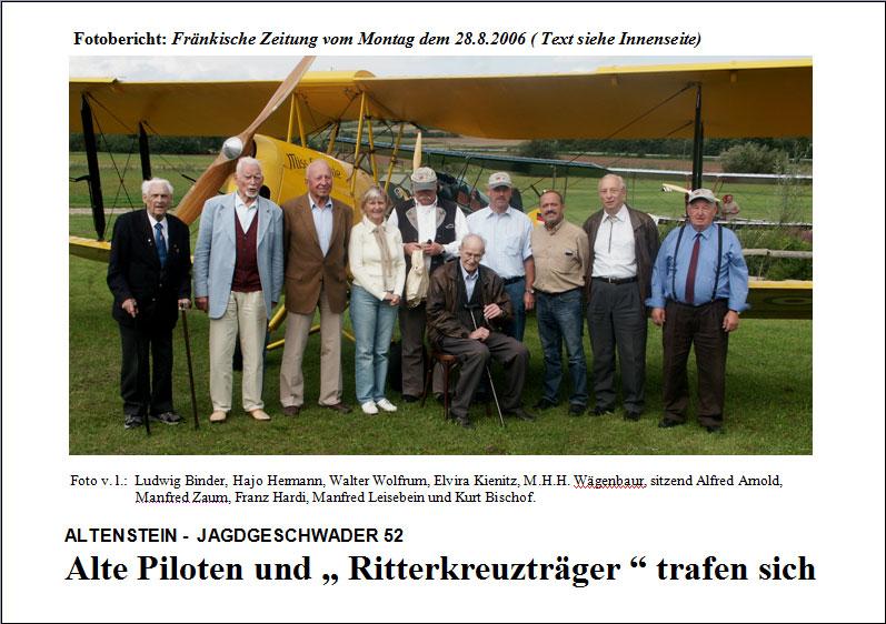 Ludwig Binder, Hajo Hermann, Walter Wolfrum, Elvira Kienitz, M.H.H. Wägenbaur, sitzend Alfred Arnold, Manfred Zaum, Franz Hardi, Manfred Leisebein und Kurt Bischof.