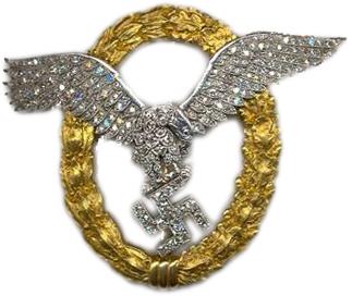 Gemeinsames Flugzeugführer - und Beobachterabzeichen in Gold mit Brillanten